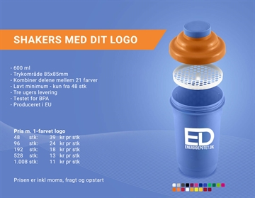 Shakers med logo - 600ML