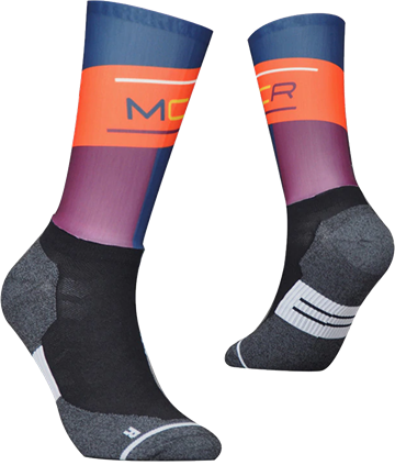 TeamSocks MCR - Blue and orange