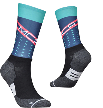 TeamSocks MCR - Blue and Green