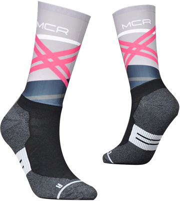 TeamSocks MCR - Grey and pink
