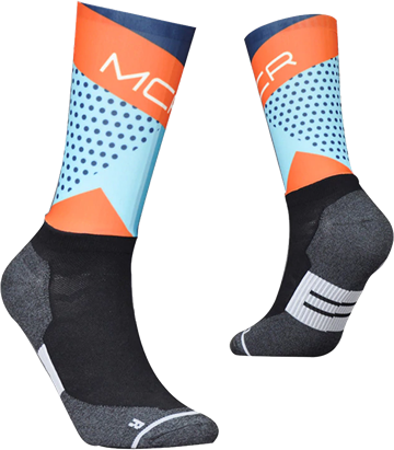 TeamSocks MCR - Light blue dots