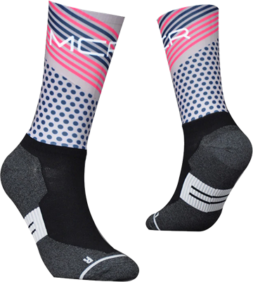 TeamSocks MCR - Pink and blue