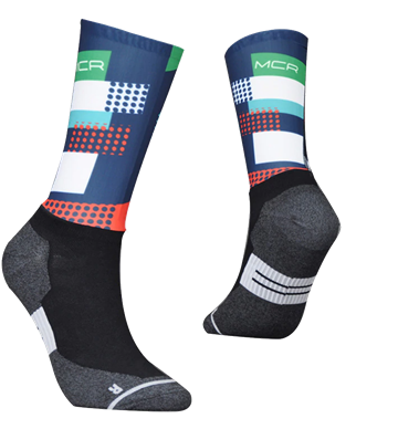 TeamSocks MCR - Red and blue