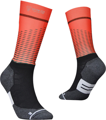 TeamSocks Pro - Square Red