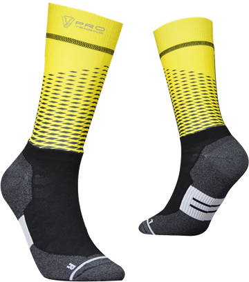 TeamSocks Pro - Square Yellow
