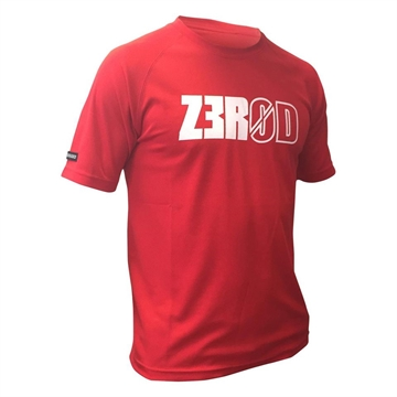 ZEROD Technical T-Shirt - Red m. Print