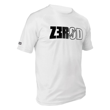 ZEROD Technical T-Shirt - White m. Print